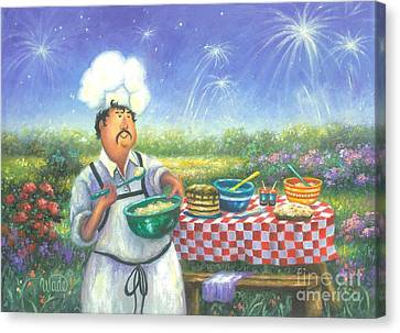 Picnic Chef Canvas Print by Vickie Wade