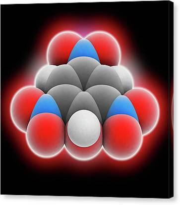 Picric Acid Molecule Canvas Print by Laguna Design