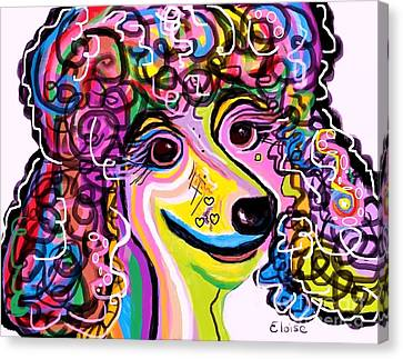 Picture Perfect Poodle  Canvas Print by Eloise Schneider