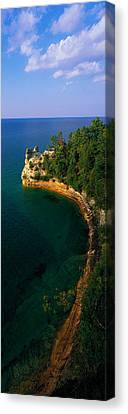 Pictured Rocks National Lake Shore Lake Canvas Print by Panoramic Images