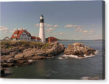 Picturesque Portland Head Light Canvas Print by Juergen Roth