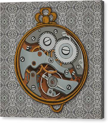 Pieces Of Time Canvas Print by Meg Shearer