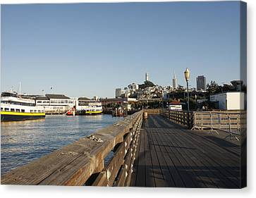 Pier 39 Canvas Print by Kimberly Oegerle