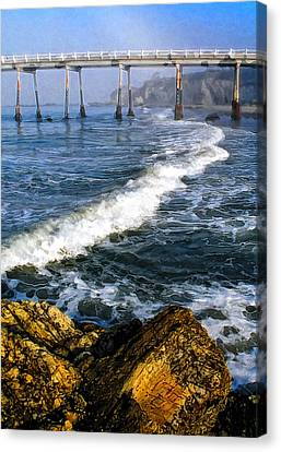 Pier Breakers Canvas Print by Ron Regalado