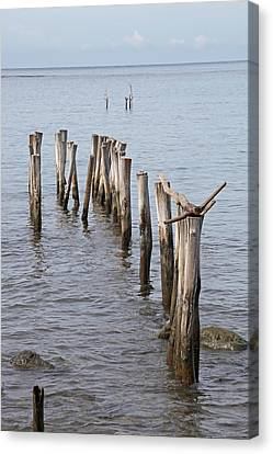 Pier Canvas Print by Jim Nelson