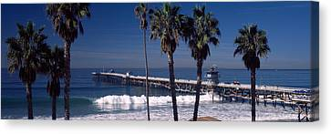 Pier Over An Ocean, San Clemente Pier Canvas Print by Panoramic Images