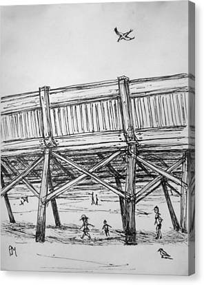 Pier Pressure Canvas Print by Pete Maier