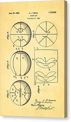 Pierce Basketball Patent Art 1929 Canvas Print by Ian Monk
