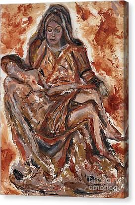 Pieta Canvas Print by Lori  Lovetere