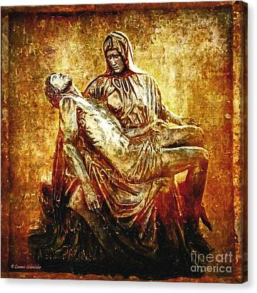 Pieta Via Dolorosa 13 Canvas Print by Lianne Schneider