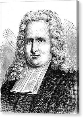 Pieter Van Musschenbroek Canvas Print by Collection Abecasis