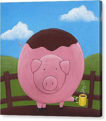 Pig Nursery Art Canvas Print by Christy Beckwith