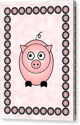 Piggy - Animals - Art For Kids Canvas Print by Anastasiya Malakhova