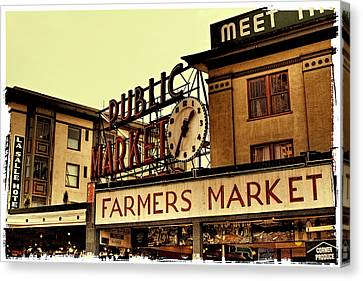 Pike Place Market - Seattle Washington Canvas Print by David Patterson