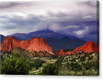 Pikes Peak Storm Canvas Print by Rod Seel
