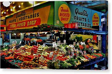 Pikes Produce Canvas Print by Benjamin Yeager