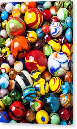 Pile Of Marbles Canvas Print by Garry Gay