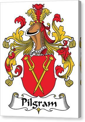 Pilgram Coat Of Arms German Canvas Print by Heraldry
