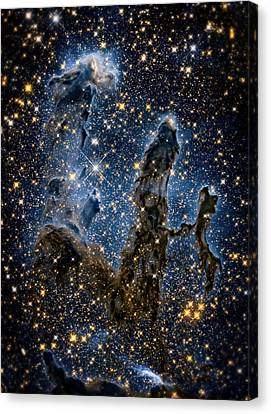 Pillars Of Creation High Definition 1 Canvas Print by The  Vault - Jennifer Rondinelli Reilly