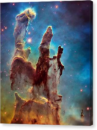 Pillars Of Creation In High Definition Cropped Canvas Print by The  Vault - Jennifer Rondinelli Reilly