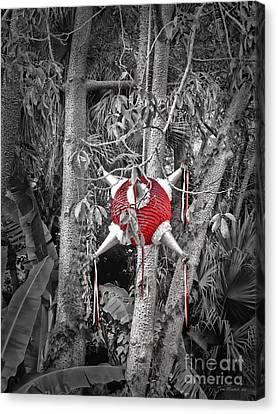 Pinata In Woods Canvas Print by Joan  Minchak