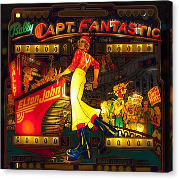 Pinball Machine Capt. Fantastic Canvas Print by Terry DeLuco
