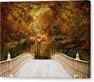 Pine Bank Autumn Canvas Print by Jessica Jenney