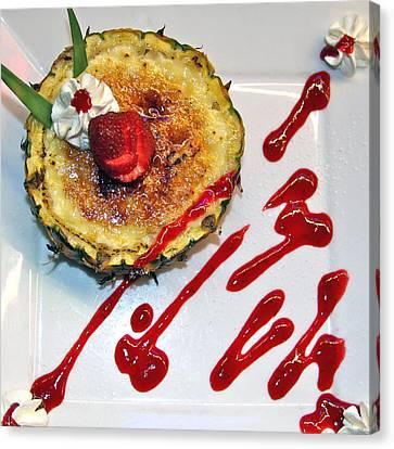 Pineapple Creme Brulee Maui Style Canvas Print by Karon Melillo DeVega