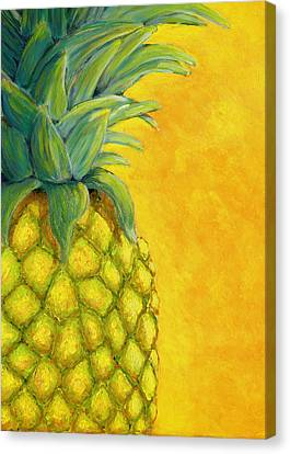 Pineapple Canvas Print by Karyn Robinson