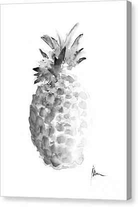 Pineapple Painting Watercolor Art Print Canvas Print by Joanna Szmerdt