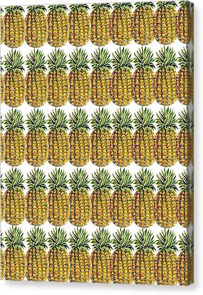 Pineapple Parade Canvas Print by John Keaton