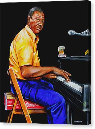 Pinetop Perkins Canvas Print by Karl Wagner