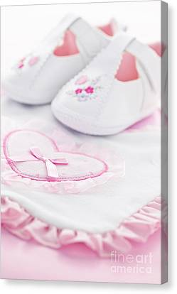 Pink Baby Girl Clothes Canvas Print by Elena Elisseeva