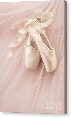 Pink Ballet Shoes Canvas Print by Diane Diederich