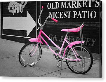 Pink Bike Canvas Print by Nikolyn McDonald