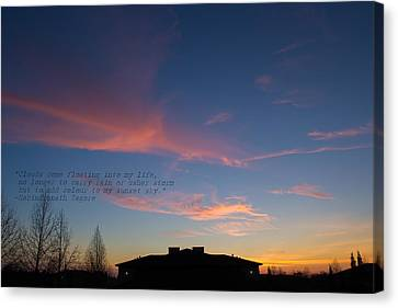 Pink Clouds Canvas Print by Rima Biswas
