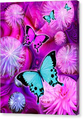 Pink Fantasy Flower Canvas Print by Alixandra Mullins