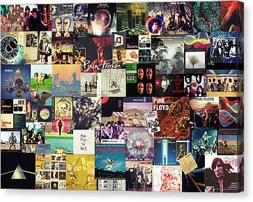 Pink Floyd Collage I Canvas Print by Taylan Soyturk