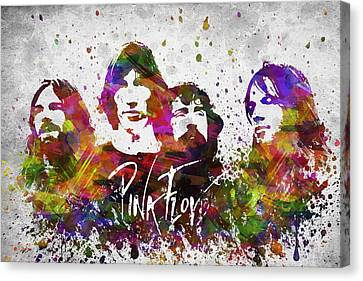 Pink Floyd In Color Canvas Print by Aged Pixel