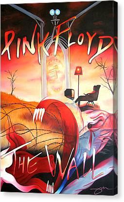 Pink Floyd The Wall Canvas Print by Joshua Morton