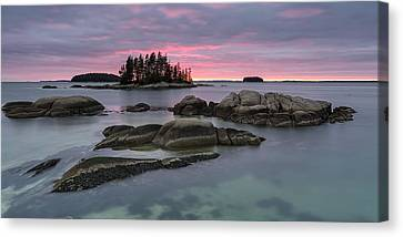 Pink Granite Glow Canvas Print by Patrick Downey