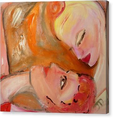 Pink Grapefruit The Ballet Canvas Print by Judith Desrosiers