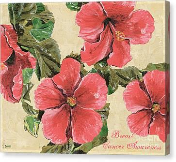 Pink Hibiscus Canvas Print by Debbie DeWitt