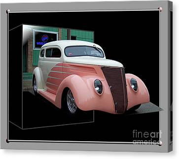 Pink Hot Rod 01 Canvas Print by Thomas Woolworth