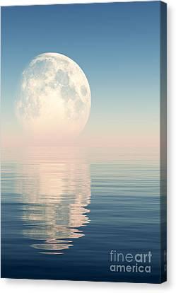 Pink Moon Canvas Print by Aleksey Tugolukov