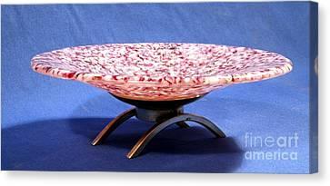 Pink Murrini Bowl With Stand Image B Canvas Print by P Russell
