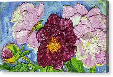 Pink Peonies Canvas Print by Paris Wyatt Llanso