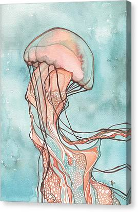 Pink Sea Nettle Jellyfish Canvas Print by Tamara Phillips