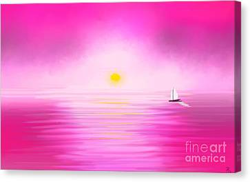 Pink Sunset Canvas Print by Anita Lewis