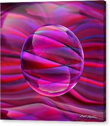 Pinking Sphere Canvas Print by Robin Moline